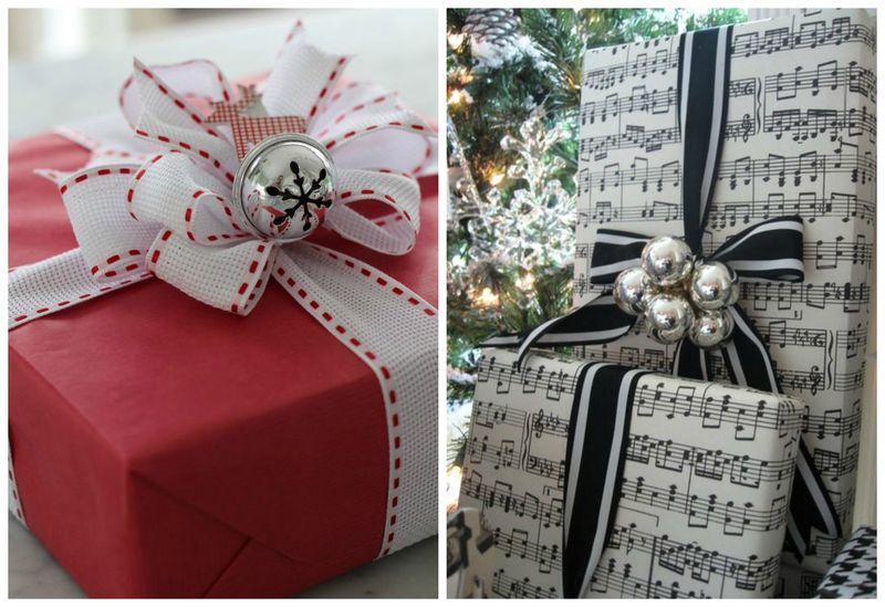 Простые идеи для упаковки новогодних подарков. Колокольчики и бубенчики | Блог Дом, в который хочется приходить