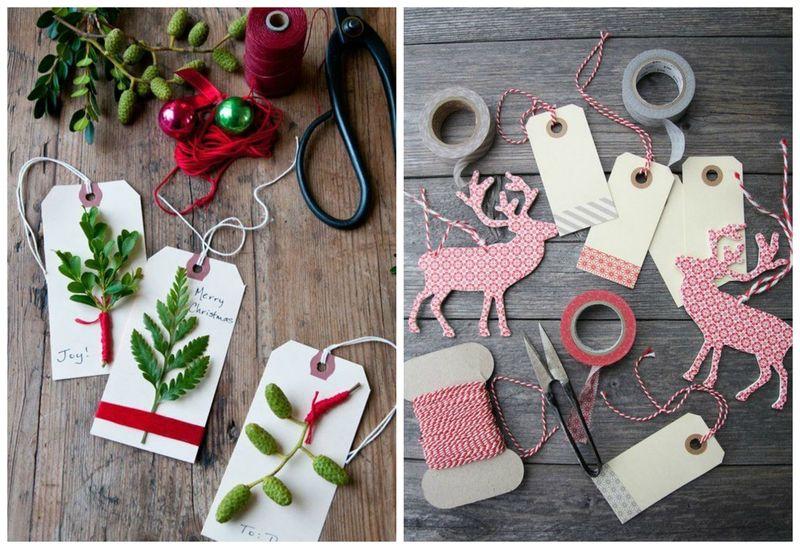 Простые идеи для упаковки новогодних подарков. Ярлыки | Блог Дом, в который хочется приходить